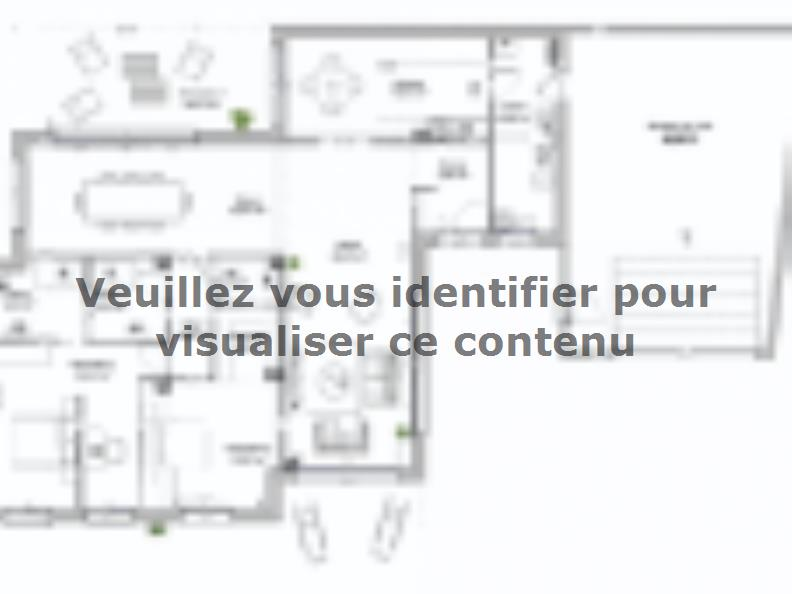 Plan de maison SM-145-PP-L-GA : Vignette 1