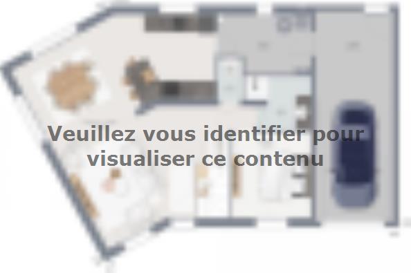 Plan de maison Inova 110 4 chambres  : Photo 1