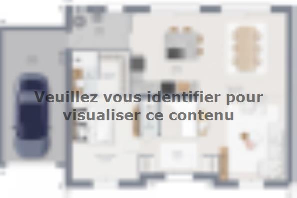 Plan de maison Actua 155 R+1 GA Brique 5 chambres  : Photo 1