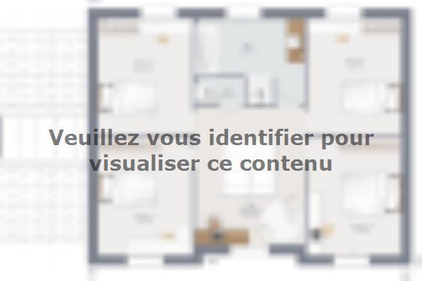 Plan de maison Actua 155 R+1 GA Brique 5 chambres  : Photo 2