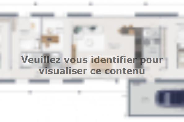 Plan de maison Eco Concept 115 PP Brique 3 chambres  : Photo 1