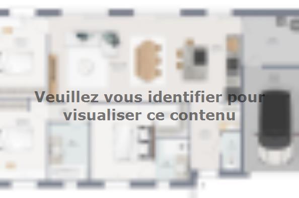 Plan de maison Family 95 GI Brique 3 chambres  : Photo 1