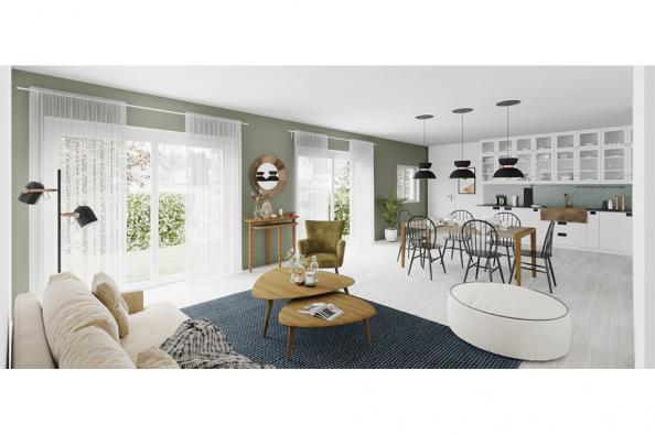 Modèle de maison Family 110 GI Brique 4 chambres  : Photo 2