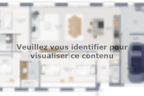 Plan de maison Family 110 GI Brique 4 chambres  : Photo 1