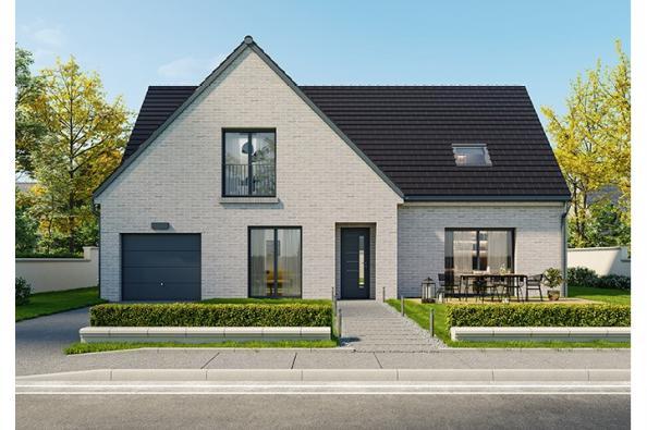 Modèle de maison Lumina 150 R+1 GI Brique 5 chambres  : Photo 1