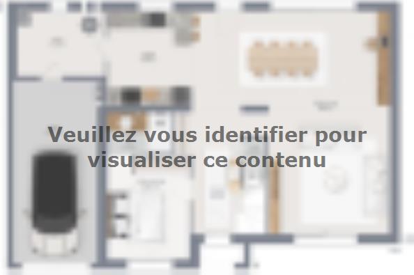 Plan de maison Lumina 150 R+1 GI Brique 5 chambres  : Photo 1