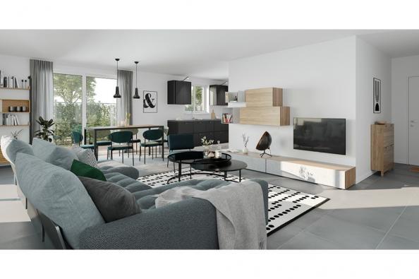 Modèle de maison Lumina 106 GA Brique 4 chambres  : Photo 2
