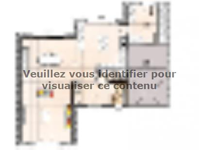 Plan de maison R1MP19135-4GI 4 chambres  : Photo 1