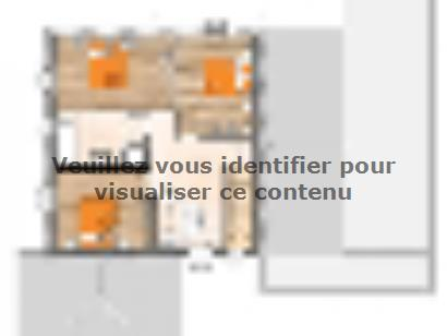 Plan de maison R119158-4GI 4 chambres  : Photo 2