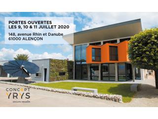Journées Portes Ouvertes Concept YRYS à Alençon du 9 au 11 juillet 2020.