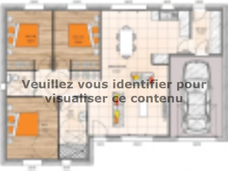 Plan de maison PP1988-3GI : Vignette 1