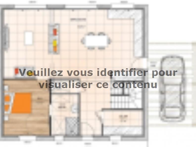 Plan de maison R19122-4 : Vignette 1