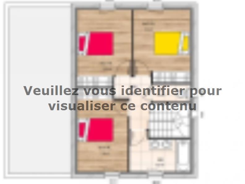 Plan de maison R19122-4 : Vignette 2