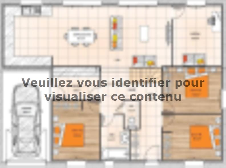Plan de maison PP19104-4GI : Vignette 1