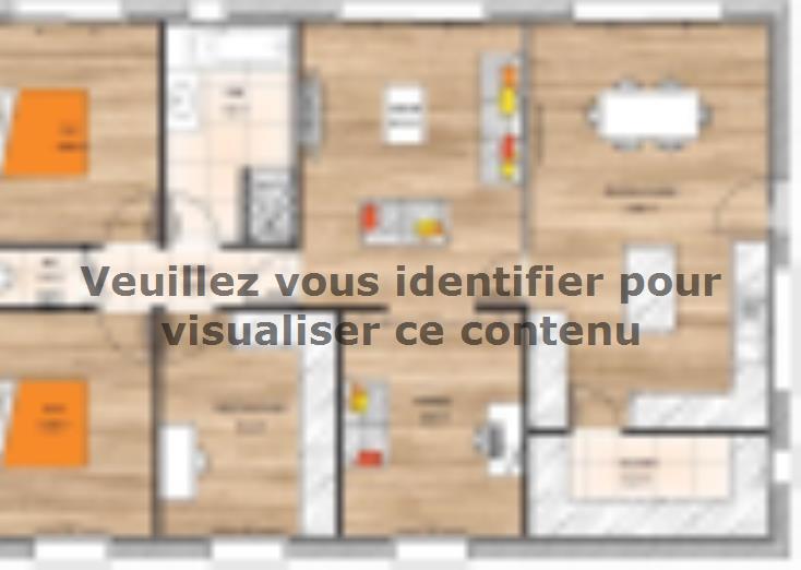 Plan de maison PP19102-3B : Vignette 1