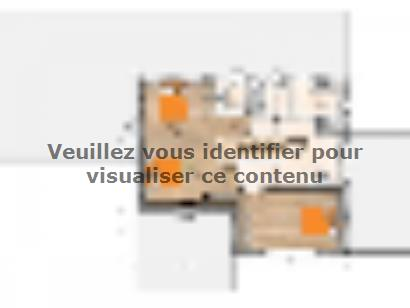 Plan de maison R1MP19196-4GA 4 chambres  : Photo 2
