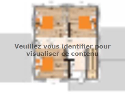 Plan de maison R120122-3 3 chambres  : Photo 2
