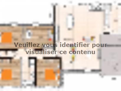 Plan de maison PP20108-4GI 3 chambres  : Photo 1
