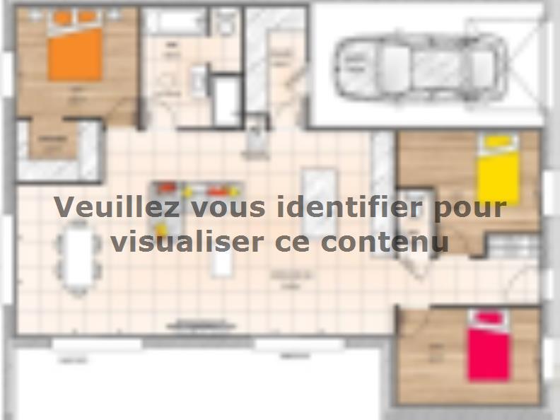 Plan de maison PPMP20100-3GI : Vignette 1