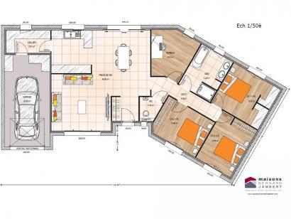 Modèle de maison PP19110-3BGI 3 chambres  : Photo 2