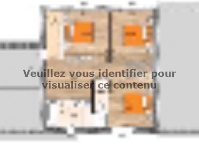 Plan de maison R119120-4GA 3 chambres  : Photo 2