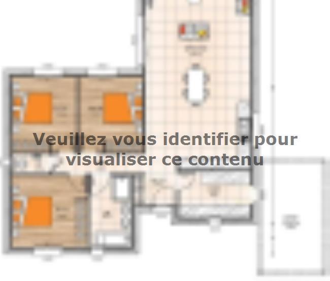 Plan de maison PP19108-3 : Vignette 1
