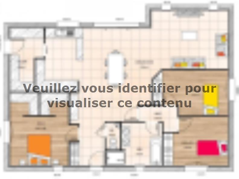 Plan de maison PP19115-3 : Vignette 1