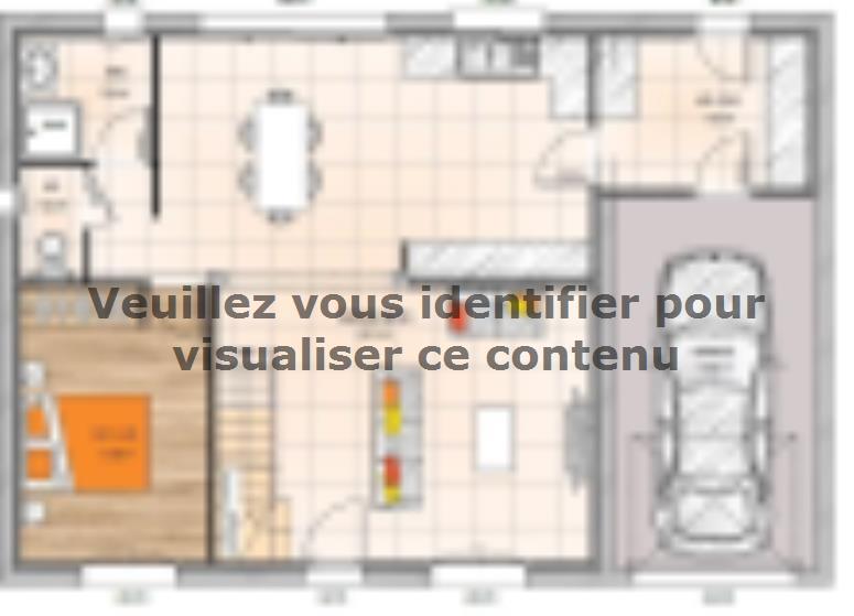 Plan de maison R1TT19128-4GA : Vignette 1