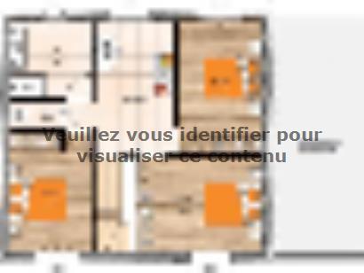 Plan de maison R1TT19128-4GA 4 chambres  : Photo 2