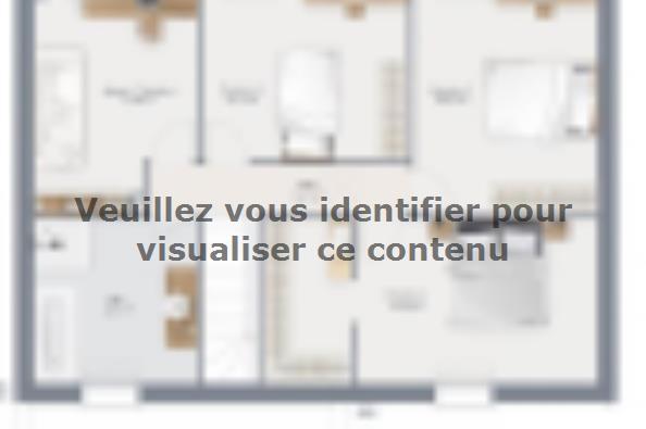 Plan de maison Actua 125 R+1 GI Série Limitée 4 chambres  : Photo 2