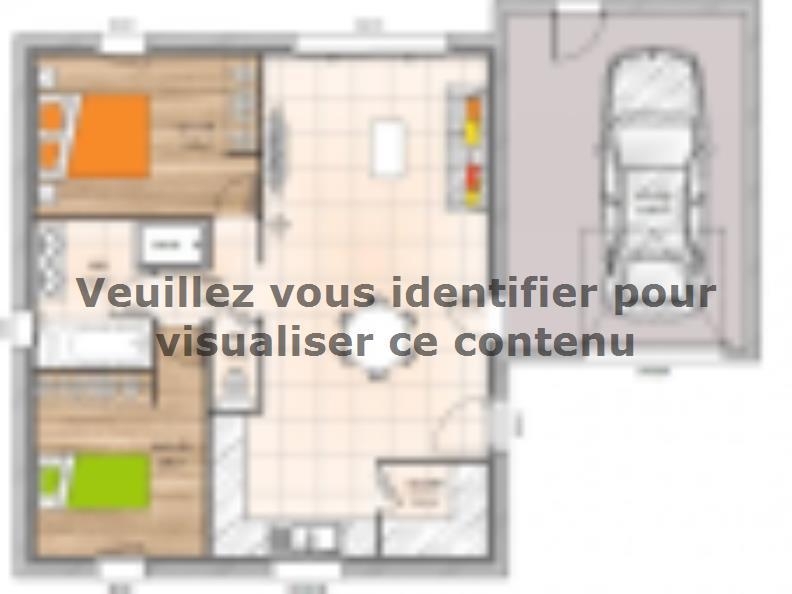 Plan de maison PP1962-2GA : Vignette 1