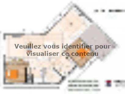 Plan de maison PP20102-3GI 2 chambres  : Photo 1