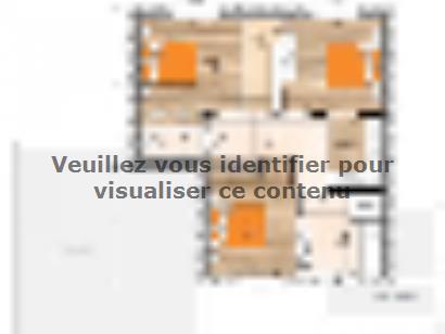 Plan de maison R1MP19118-4GA 4 chambres  : Photo 2