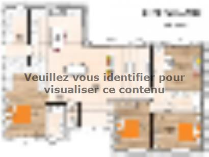 Plan de maison PP19130-3B 3 chambres  : Photo 1