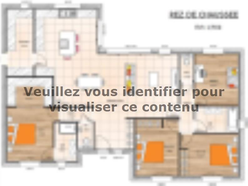 Plan de maison PP19130-3B : Vignette 1