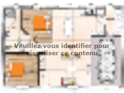 Plan de maison PP1974-2GI 2 chambres  : Photo 1