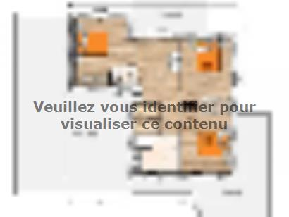Plan de maison R1MP19150-4GI 4 chambres  : Photo 1