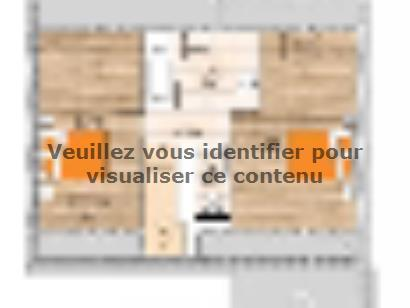 Plan de maison RCA1891-3GI 3 chambres  : Photo 2