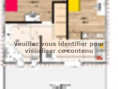 Plan de maison R1MP18106-3MGI 3 chambres  : Photo 2