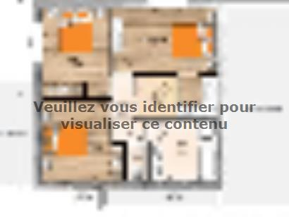 Plan de maison R118123-4GA 4 chambres  : Photo 2