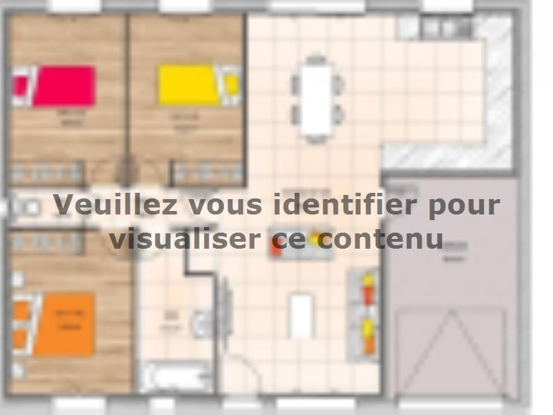 Plan de maison PP1880-3GI : Vignette 1