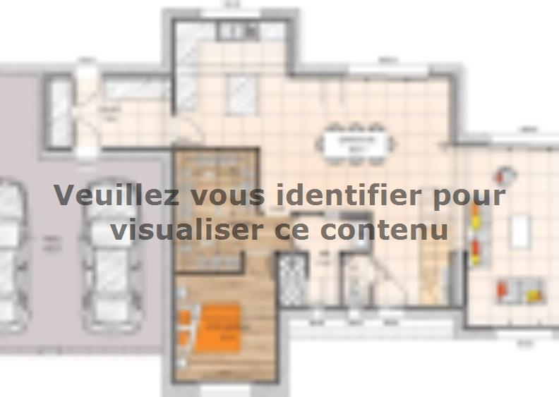 Plan de maison R1TT18135-4CPA : Vignette 1