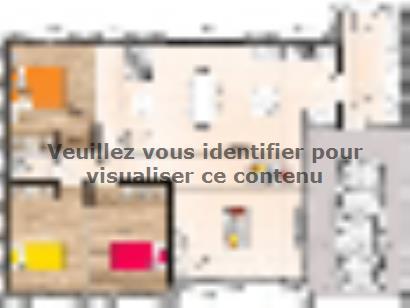 Plan de maison PP1892-3GI 3 chambres  : Photo 1