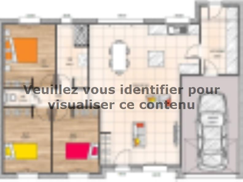 Plan de maison PP1892-3GI : Vignette 1