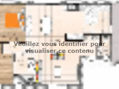 Plan de maison PPMP1984-2GI 2 chambres  : Photo 1