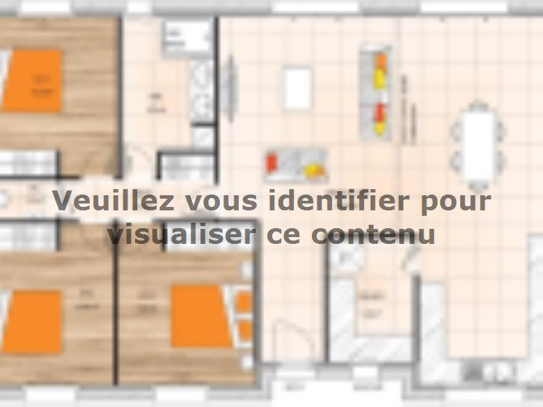 Plan de maison PP19100-3 : Vignette 1