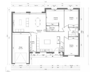 Maison neuve  à  Loches (37600)  - 190000 € * : photo 4