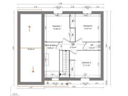 Maison neuve  à  Rouziers-de-Touraine (37360)  - 217200 € * : photo 3