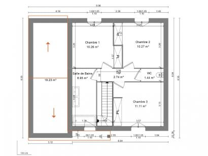 Maison neuve  à  Pernay (37230)  - 189000 € * : photo 3