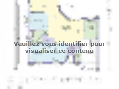 Plan de maison AMBRE 100 3 chambres  : Photo 1